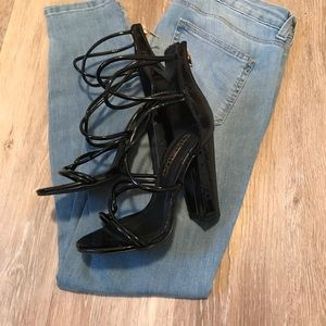 Liliana Black Patent Leather Heels